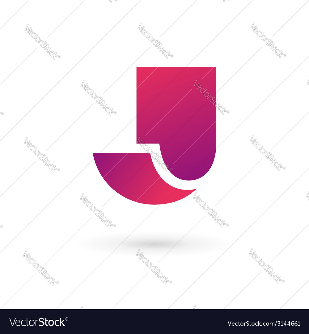 Letter j logo icon vector | Price: 1 Credit (USD $1)