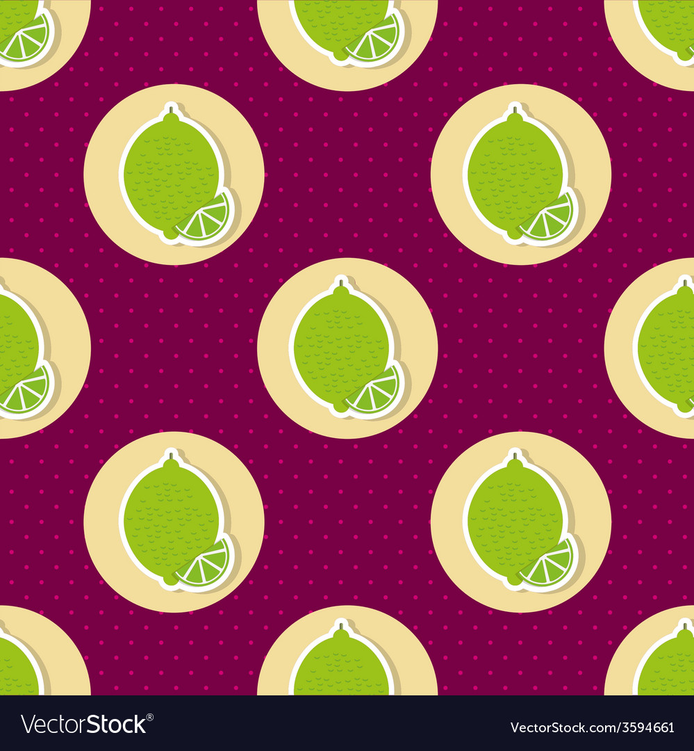 Limes pattern seamless texture with ripe limes vector | Price: 1 Credit (USD $1)