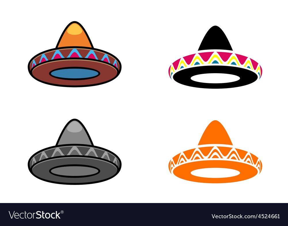 Mexican hats vector | Price: 1 Credit (USD $1)