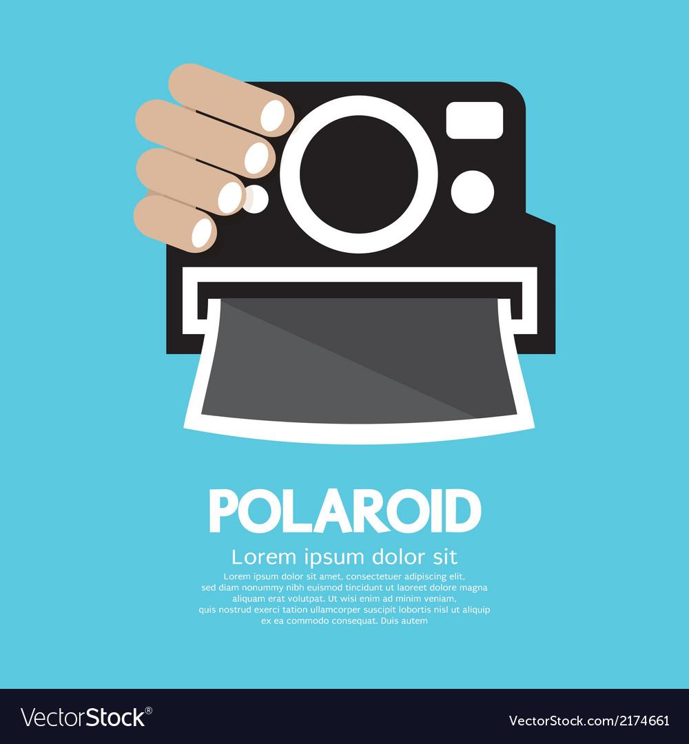 Polaroid camera vector | Price: 1 Credit (USD $1)