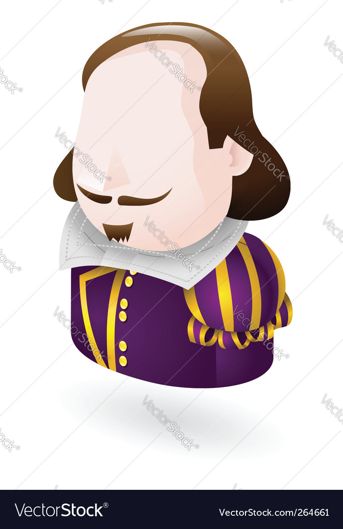 Shakespeare character icon vector | Price: 1 Credit (USD $1)