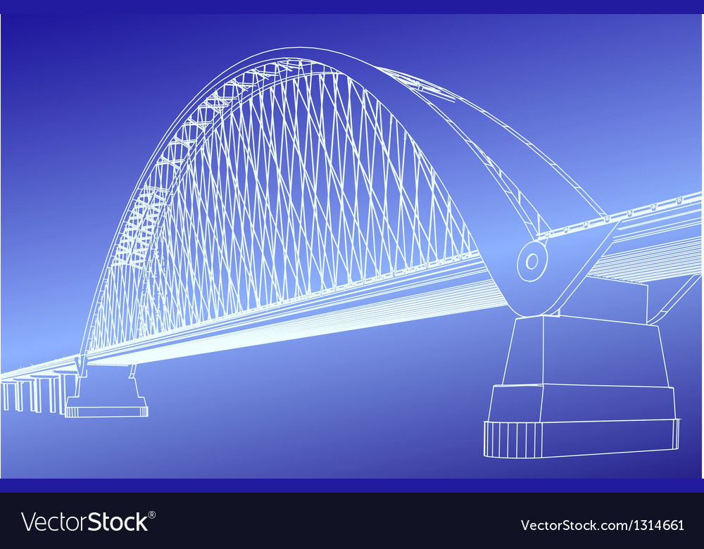Silhouette of golden gate bridge vector | Price: 1 Credit (USD $1)