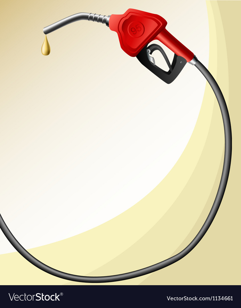 Text frame with fuel nozzle vector | Price: 1 Credit (USD $1)