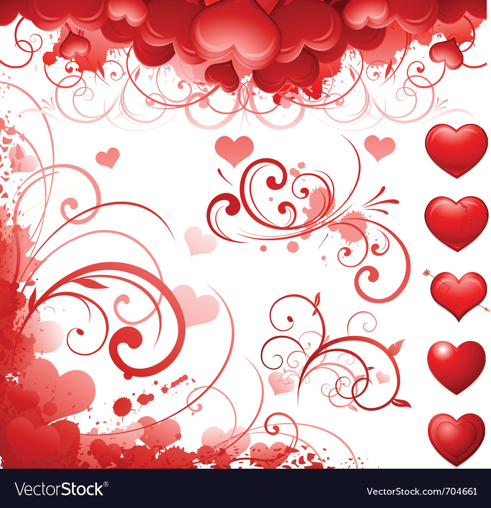 Valentines day concept background vector | Price: 1 Credit (USD $1)