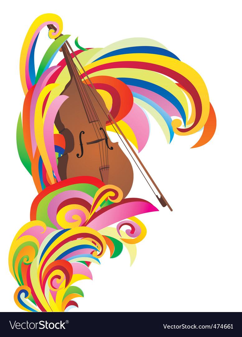 Violin color curves vector | Price: 1 Credit (USD $1)