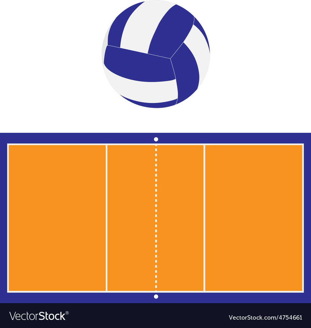 Volleyball court and ball vector | Price: 1 Credit (USD $1)