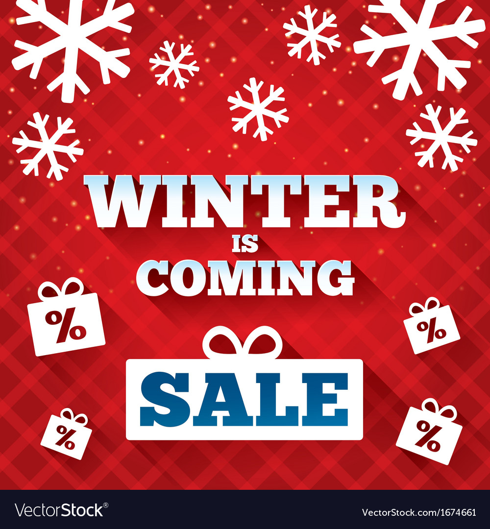 Winter is coming sale background christmas sale vector   Price: 1 Credit (USD $1)