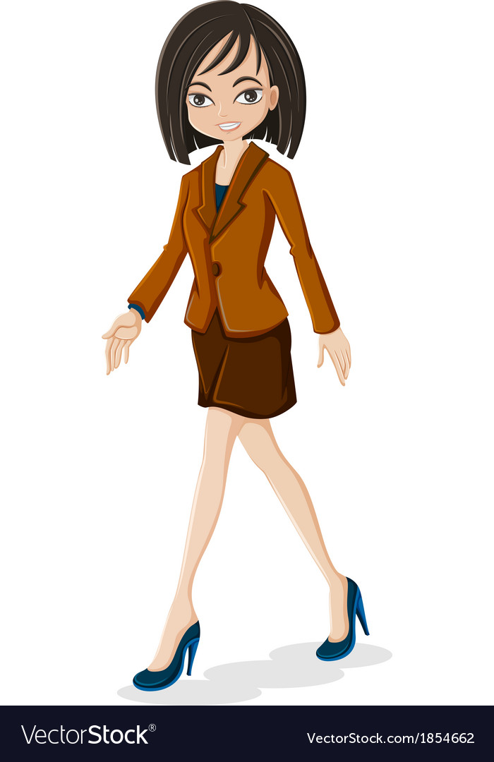 A business woman walking vector | Price: 1 Credit (USD $1)