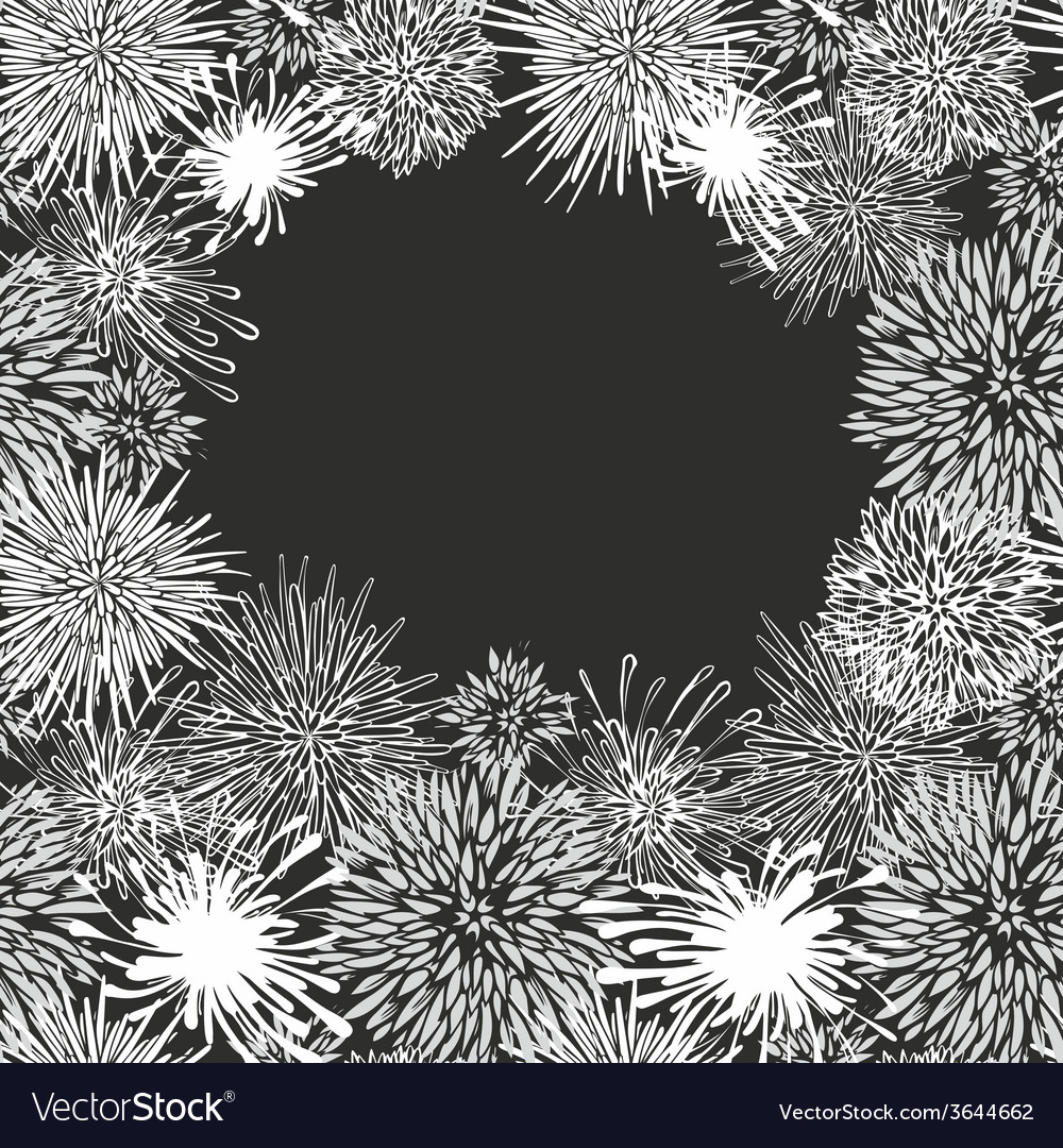 Abstract aster flower pattern vector | Price: 1 Credit (USD $1)