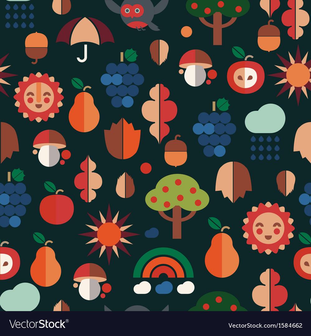Autumn symbols pattern vector   Price: 1 Credit (USD $1)
