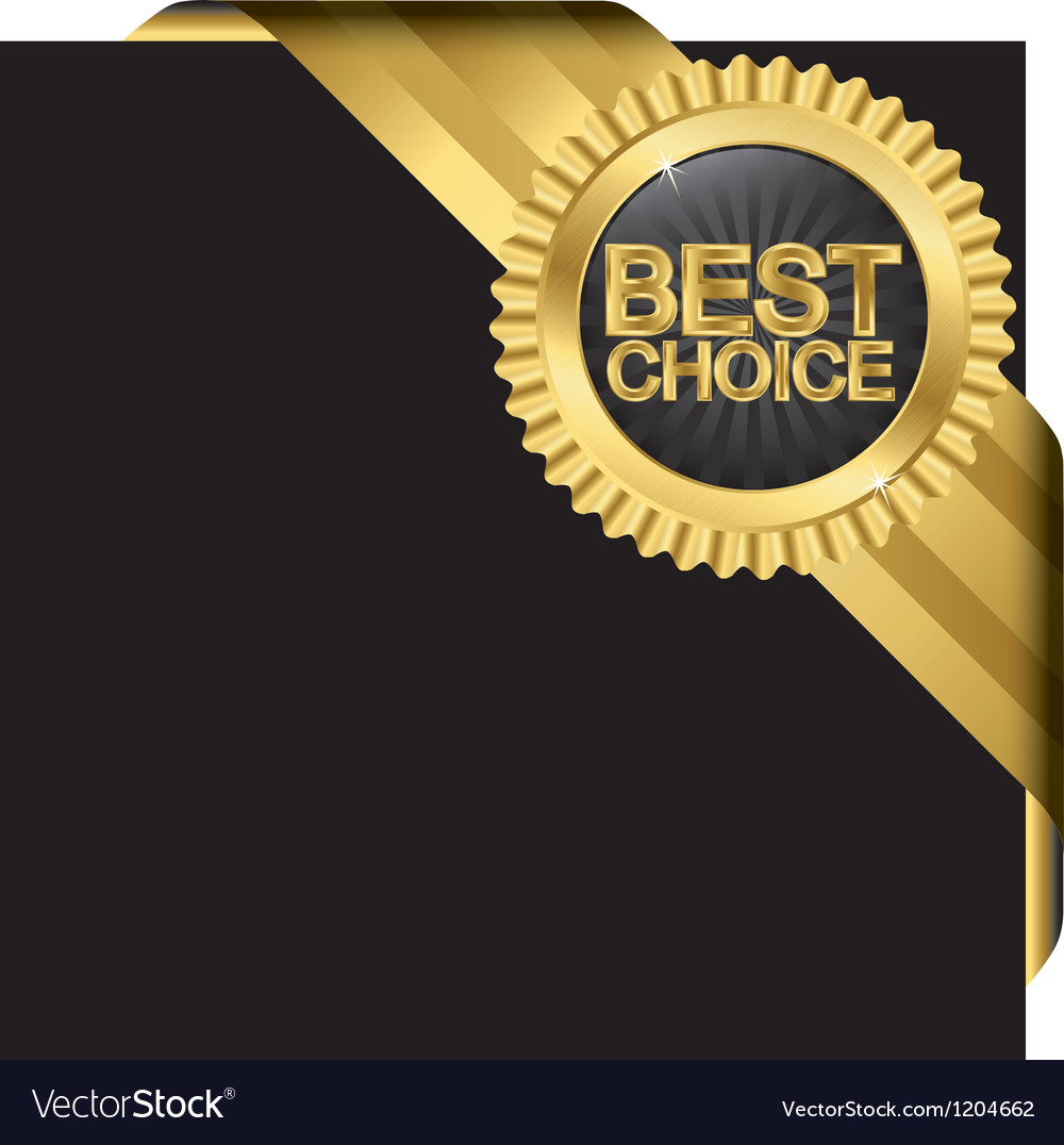 Best choice golden label with ribbons vector | Price: 1 Credit (USD $1)