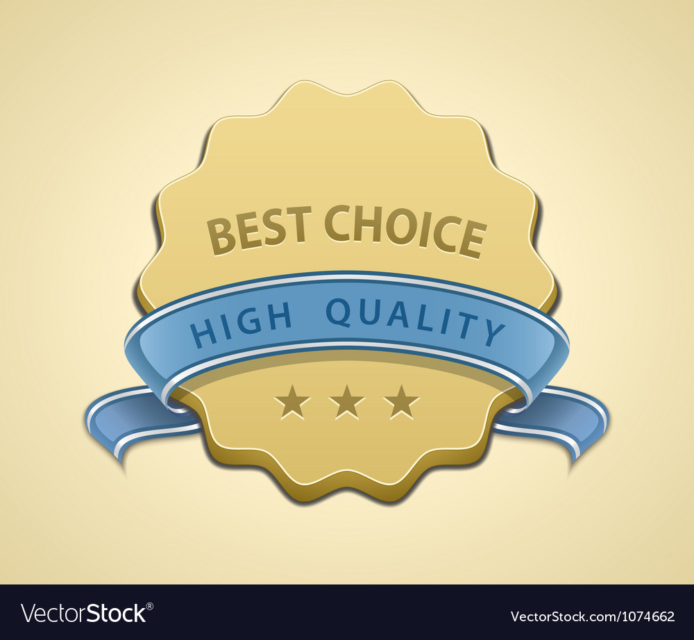 Best choice seal vector | Price: 1 Credit (USD $1)