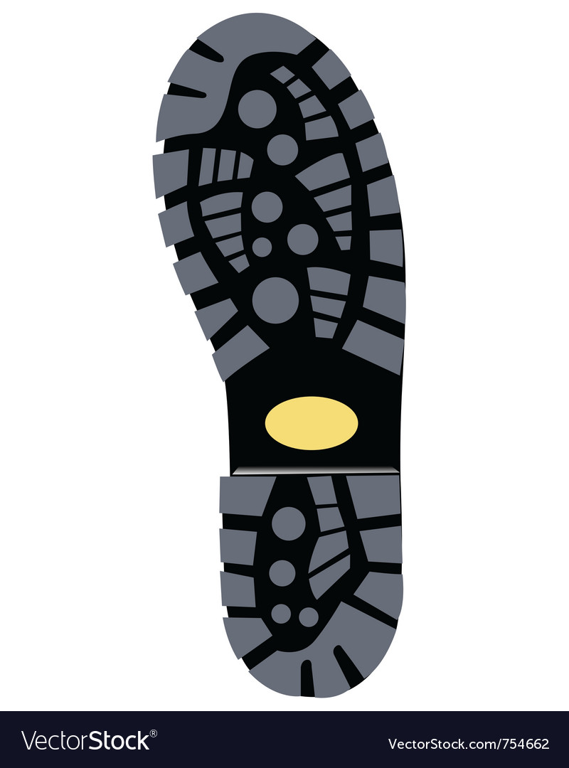 Black sole boot vector | Price: 1 Credit (USD $1)