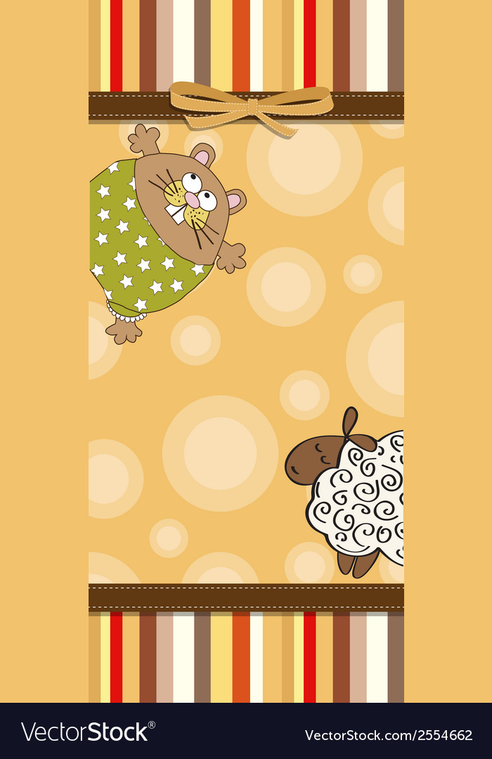 Childish cartoon greeting card vector | Price: 1 Credit (USD $1)