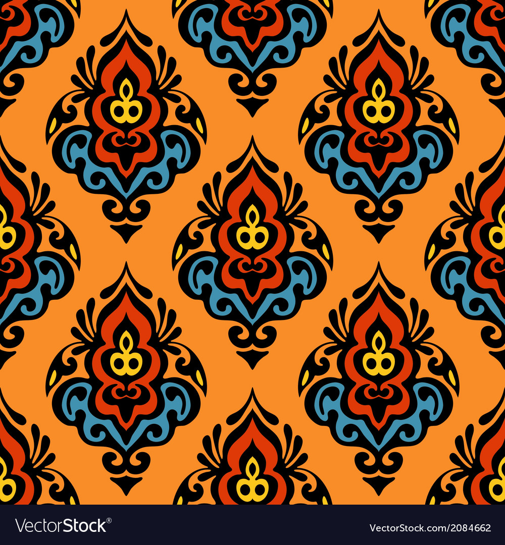 Damask seamless design vector   Price: 1 Credit (USD $1)
