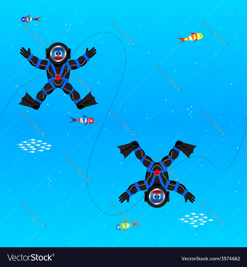 Divers seamless pattern vector | Price: 1 Credit (USD $1)