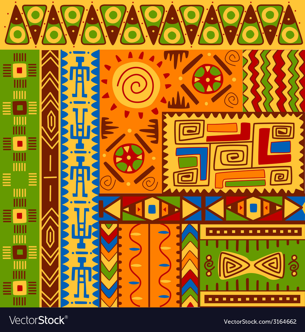 Ethnic patterns vector | Price: 1 Credit (USD $1)