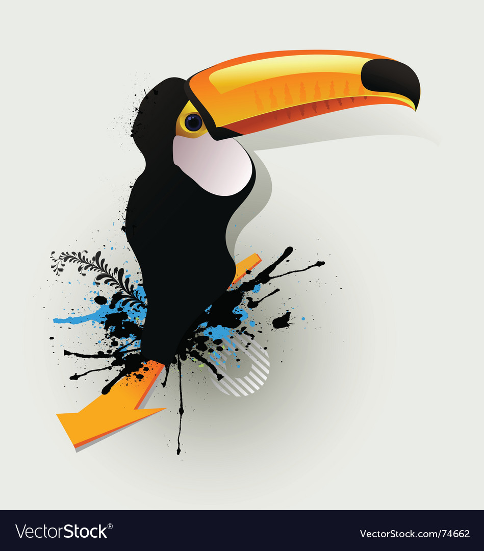 Graffiti drawing birds vector | Price: 1 Credit (USD $1)