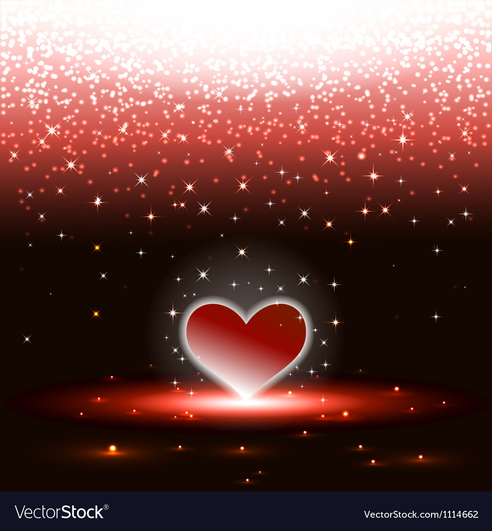 Heart with sparkles rain vector | Price: 1 Credit (USD $1)