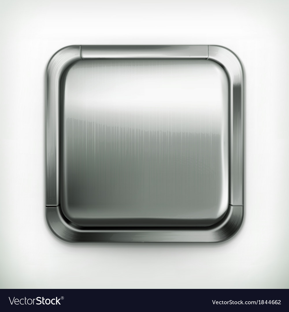 Metal button detailed icon vector | Price: 1 Credit (USD $1)