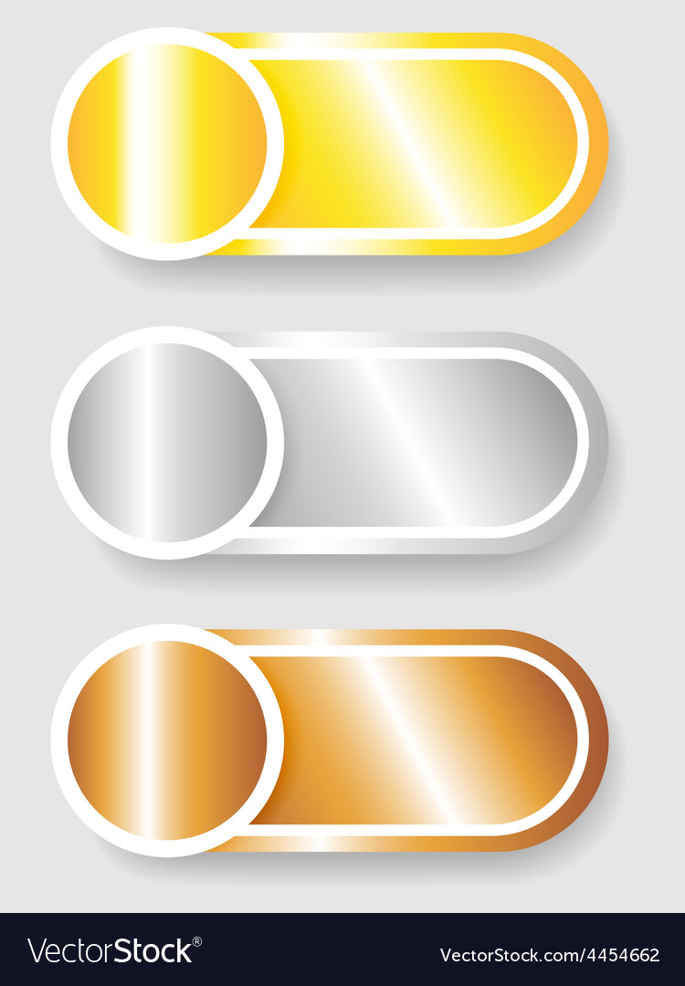 Set 3 of circle and cylinder labels vector | Price: 1 Credit (USD $1)