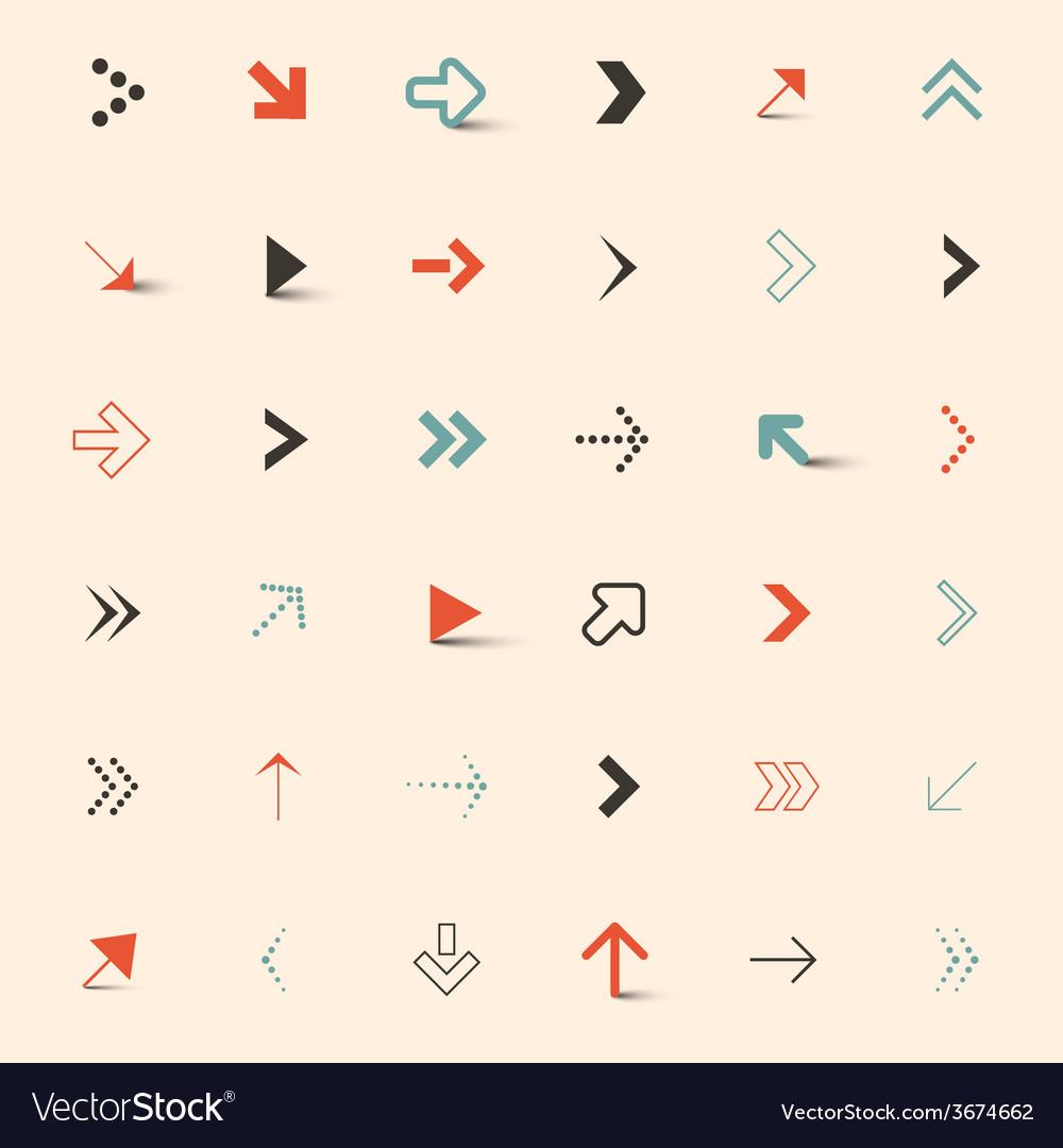 Simple arrows set vector | Price: 1 Credit (USD $1)