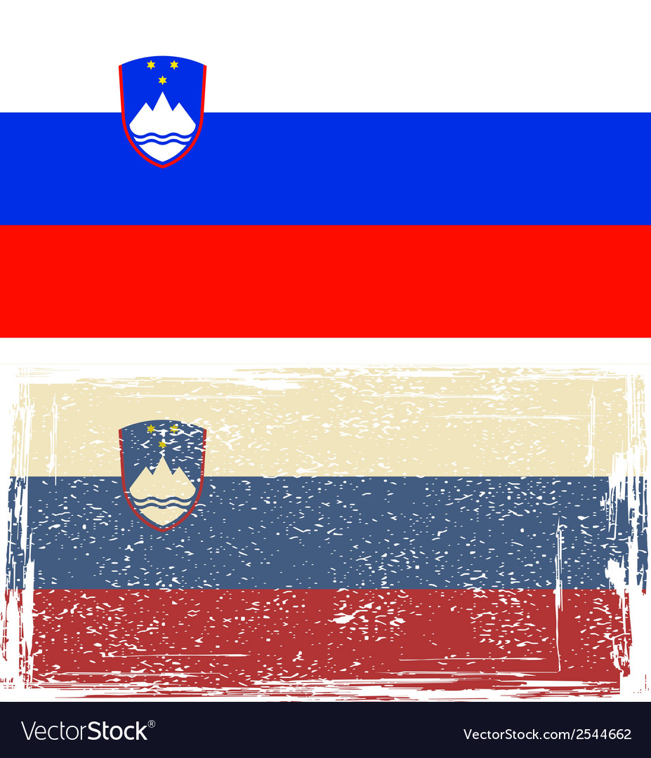 Slovenian grunge flag vector | Price: 1 Credit (USD $1)