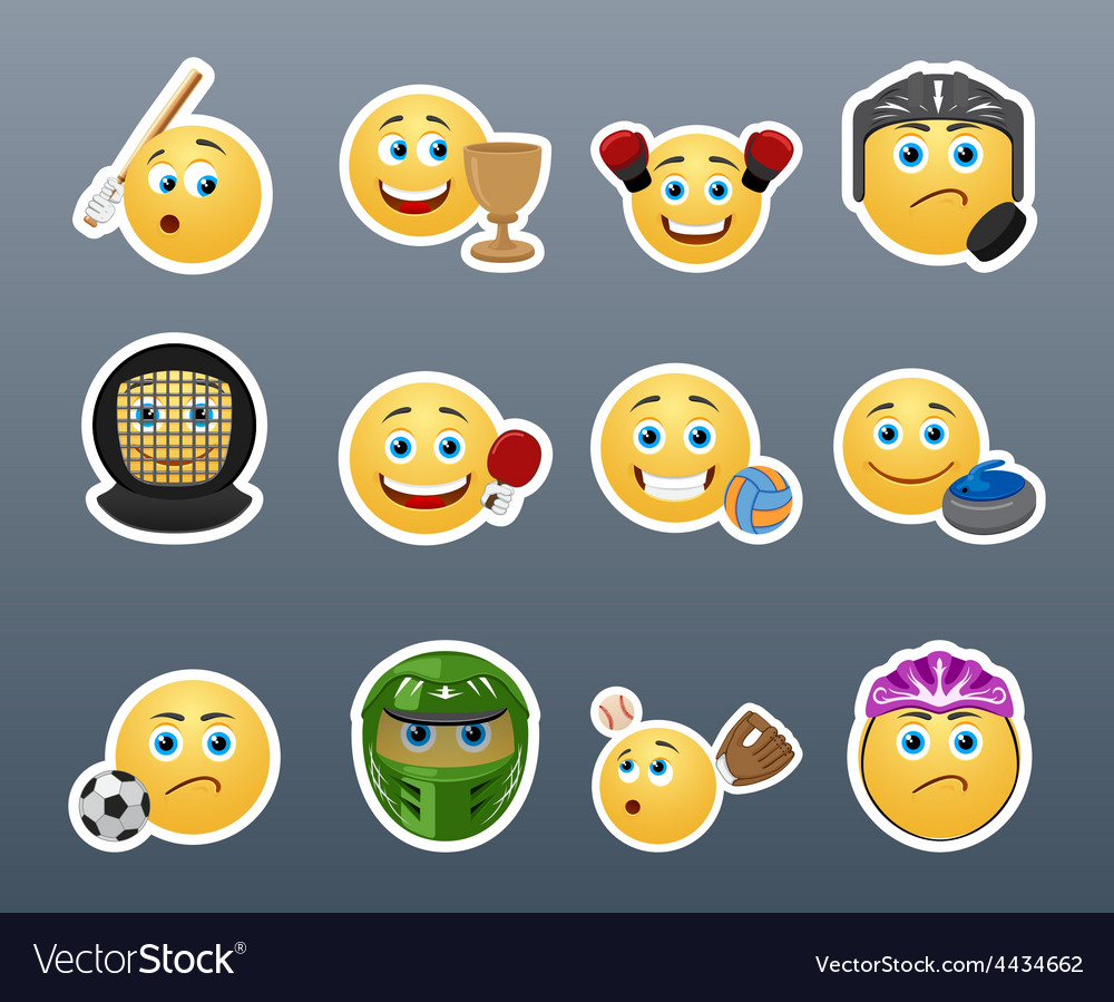 Stickers and sports vector | Price: 1 Credit (USD $1)