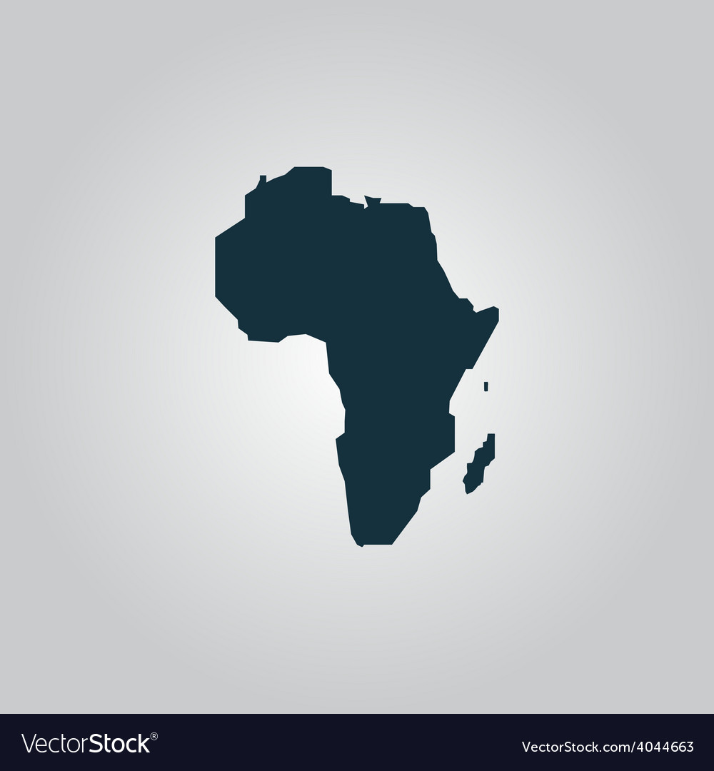 Africa map - icon isolated vector | Price: 1 Credit (USD $1)