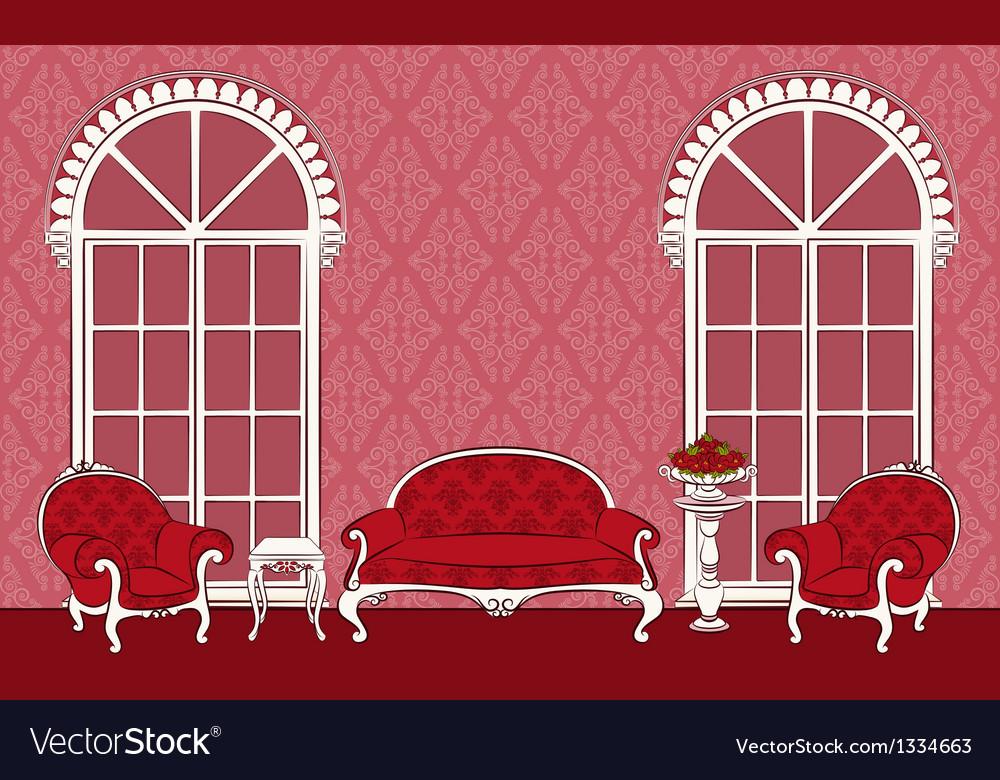 Beautiful vintage interior vector | Price: 1 Credit (USD $1)