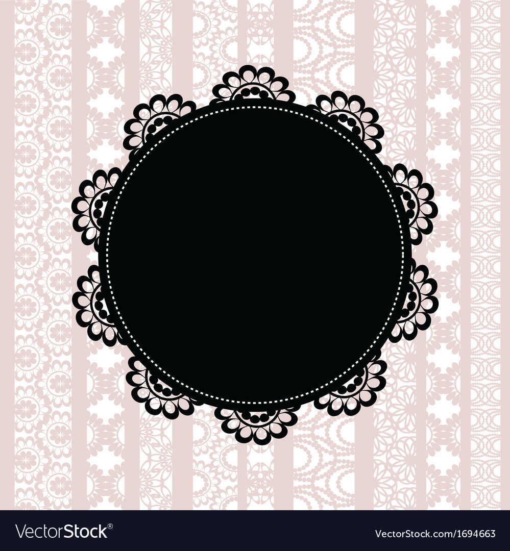 Elegant doily on lace background vector | Price: 1 Credit (USD $1)