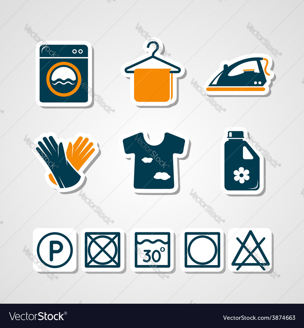 Laundry paper cut icons vector | Price: 1 Credit (USD $1)