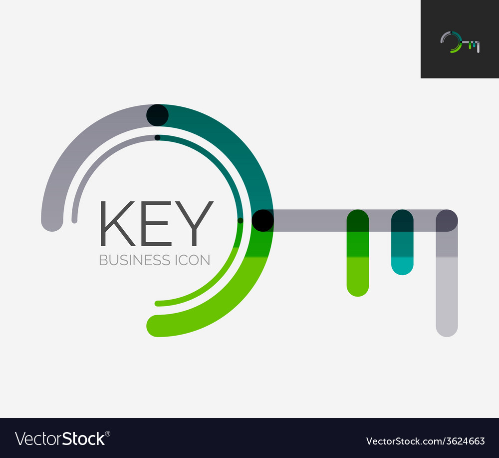 Minimal line design logo key icon vector   Price: 1 Credit (USD $1)