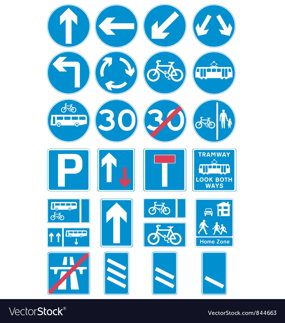 Road traffic signs vector | Price: 1 Credit (USD $1)