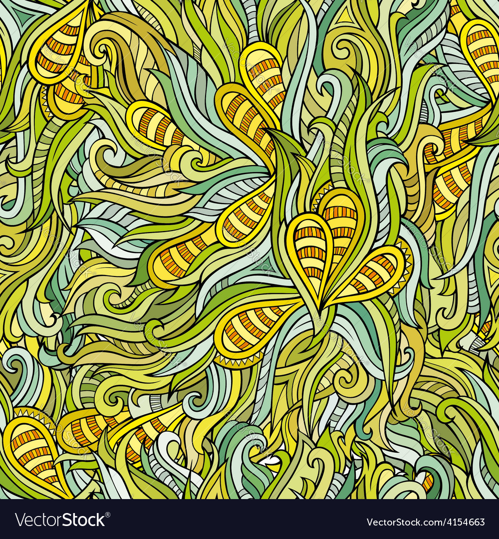 Seamless abstract nature pattern vector | Price: 1 Credit (USD $1)