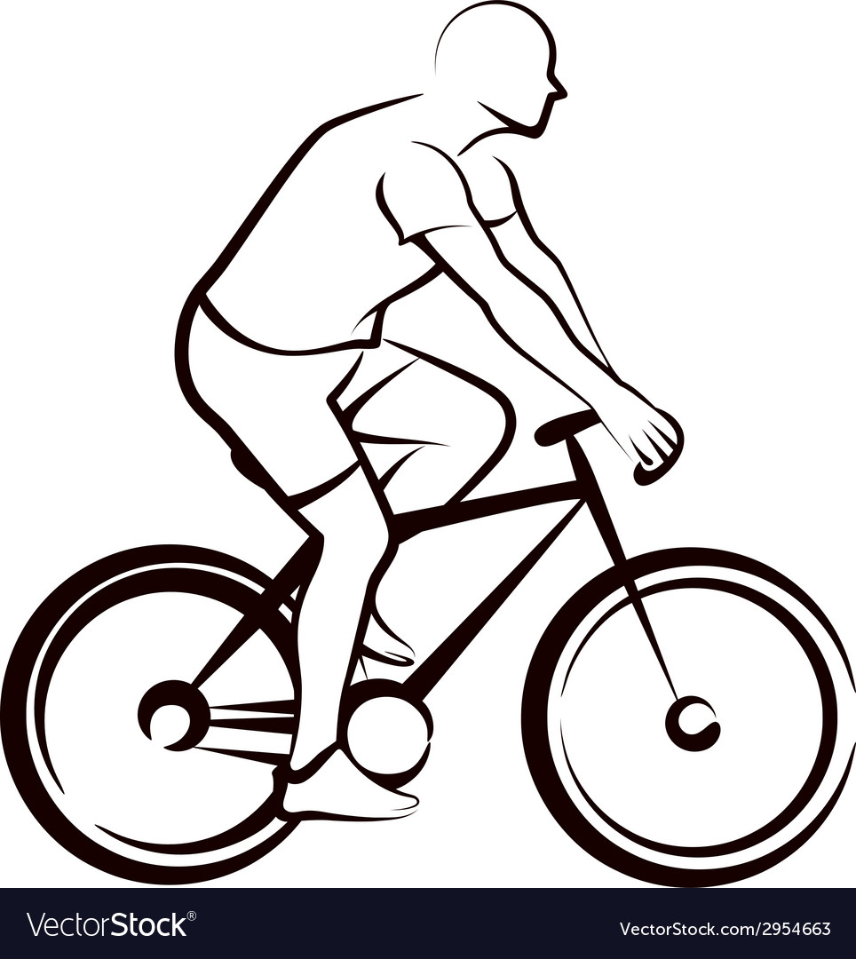 Simple with a bicycler vector | Price: 1 Credit (USD $1)