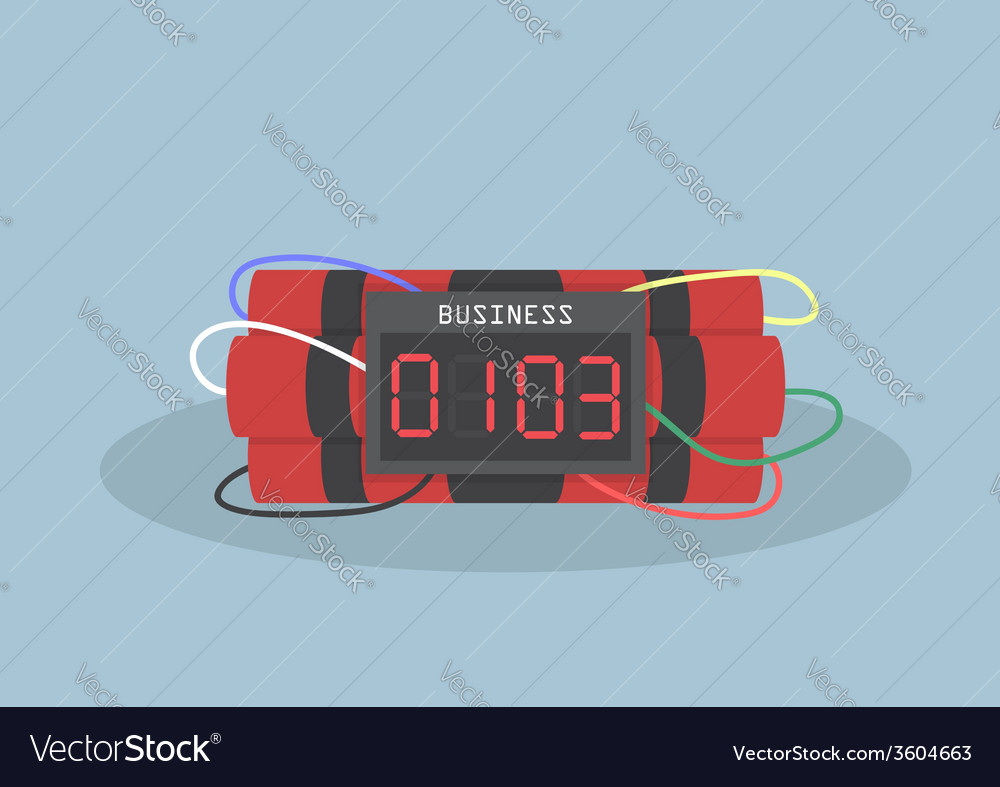 Ticking time bomb business concept vector | Price: 1 Credit (USD $1)