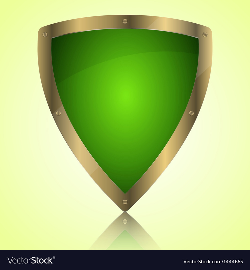 Triumph green shield symbol icon vector | Price: 1 Credit (USD $1)