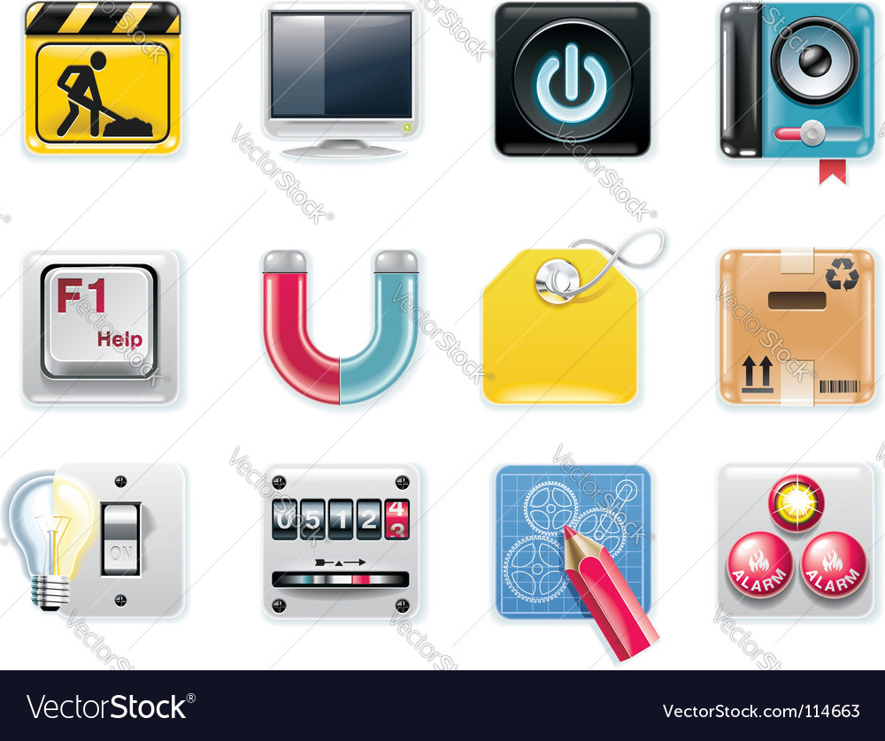 Universal square icons vector | Price: 3 Credit (USD $3)