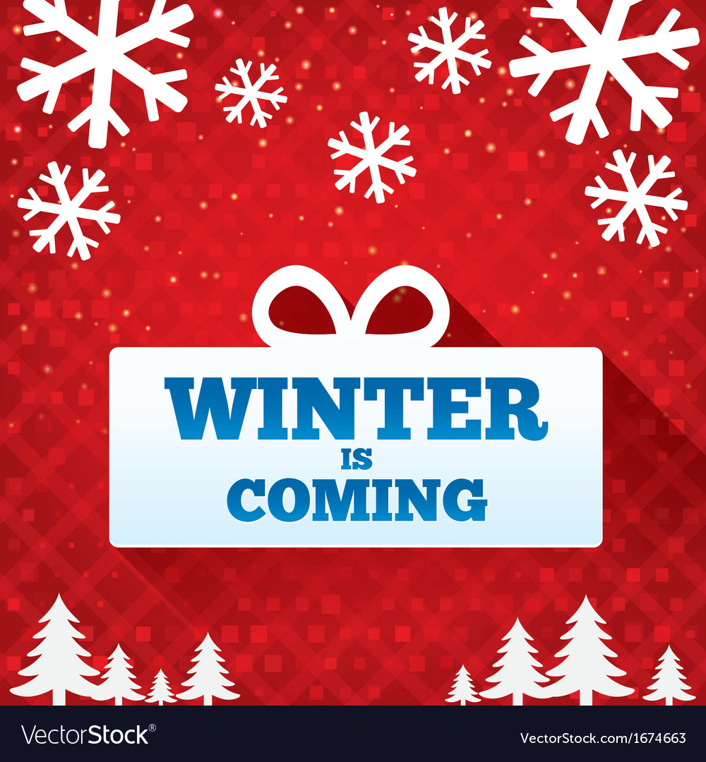 Winter is coming sale background christmas sale vector | Price: 1 Credit (USD $1)