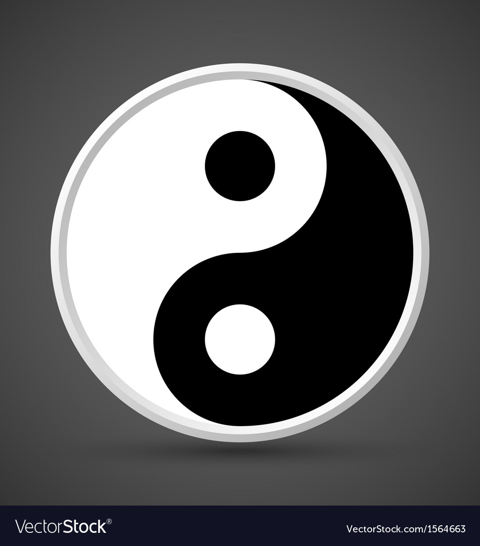 Yin yang symbol icon vector | Price: 1 Credit (USD $1)