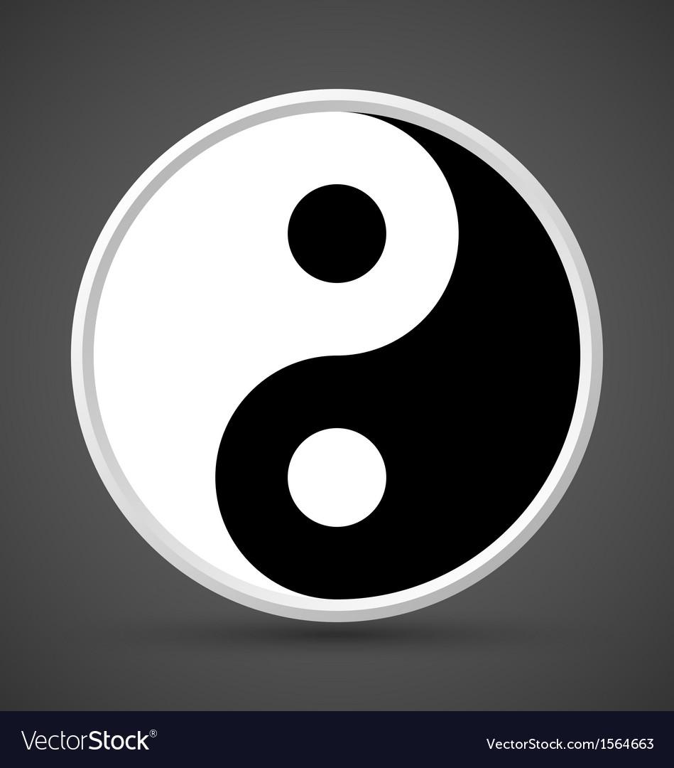 Yin yang symbol icon vector | Price: 1 Credit (USD $1)
