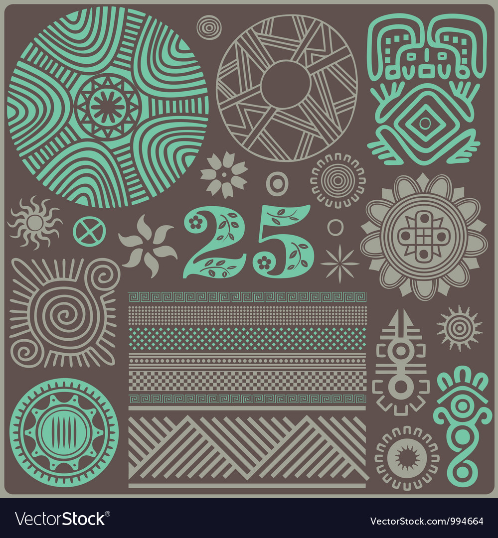 25 elements of the african style06 vector | Price: 1 Credit (USD $1)