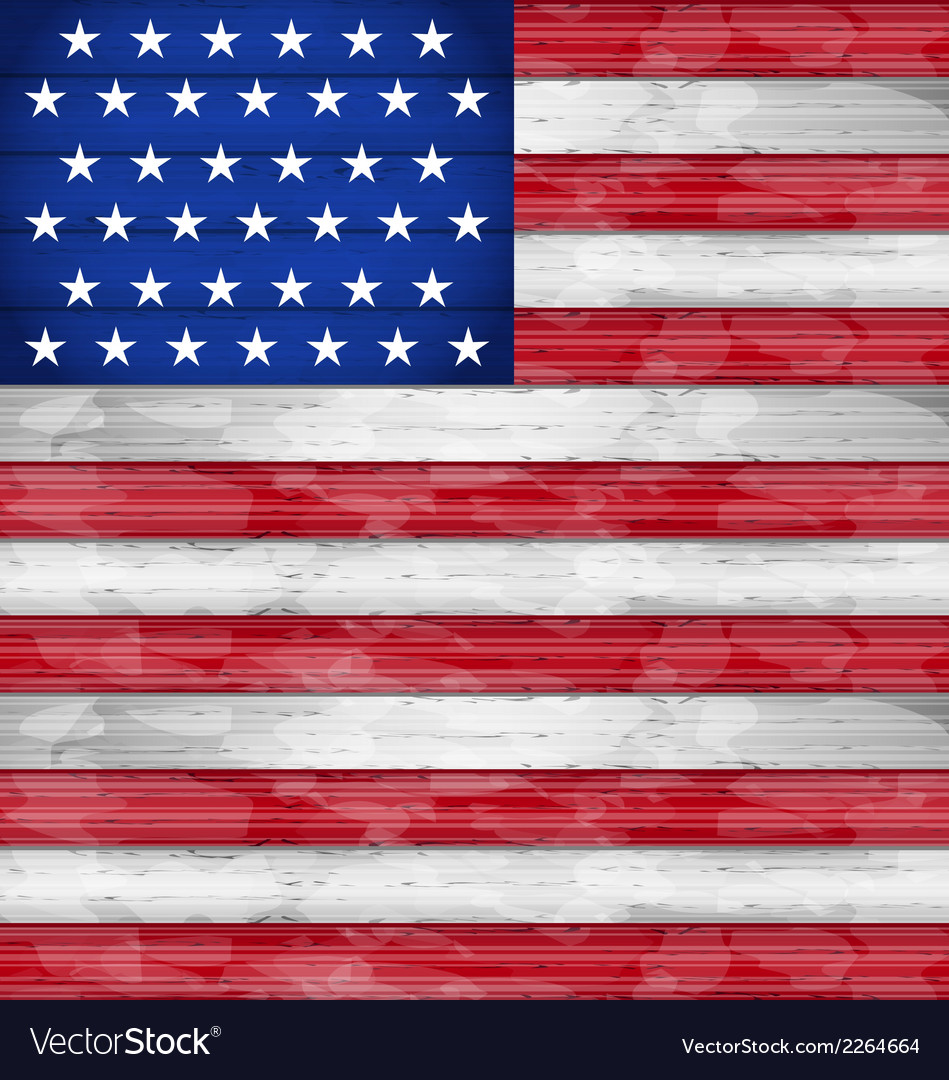 American flag for independence day wood texture vector | Price: 1 Credit (USD $1)