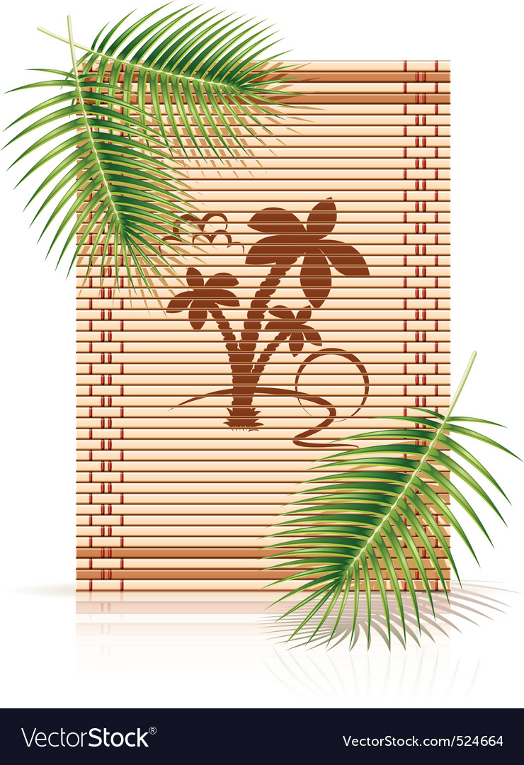 Bamboo mat tropic palm vector | Price: 1 Credit (USD $1)