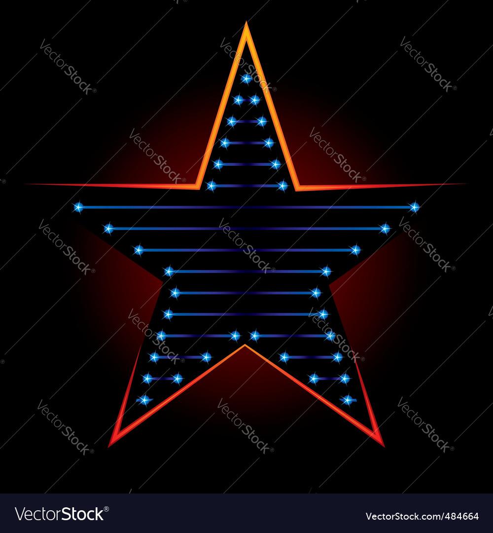 Blue star vector | Price: 1 Credit (USD $1)