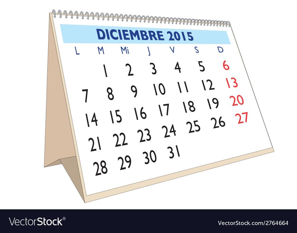 Diciembre 2015 vector   Price: 1 Credit (USD $1)