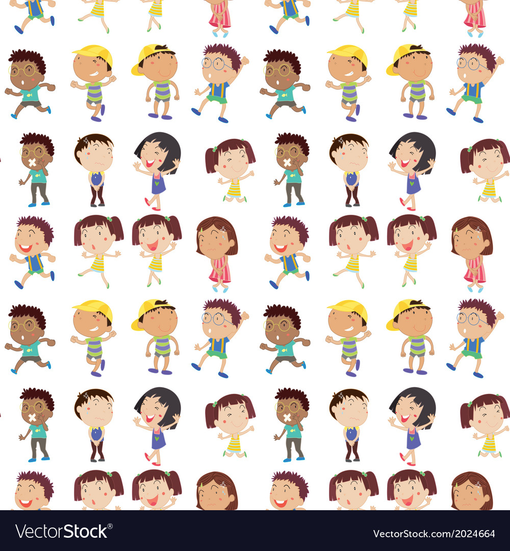 Different emotion of kids vector | Price: 3 Credit (USD $3)