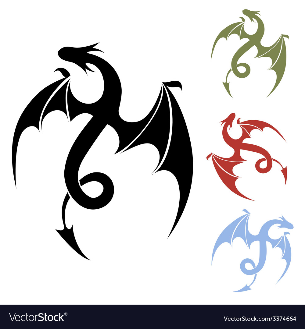Dragon icon vector | Price: 1 Credit (USD $1)