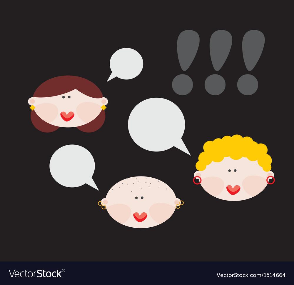 Female conversations vector | Price: 1 Credit (USD $1)